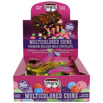 Milk Multicolored Chocolate Coins
