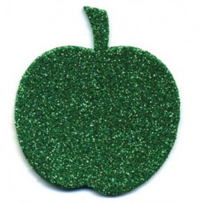 Glitter Foam Shape for Wall - Apple