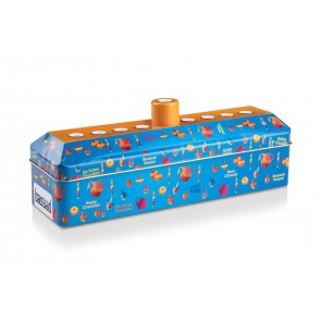NEW !!  Tin Case Menorah