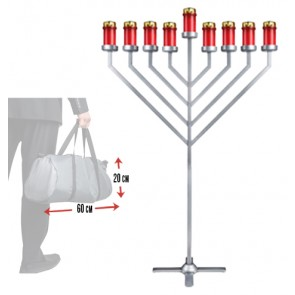 NEW!! 1.10 m INDOOR Menorah ---  Stored in a  Bag 20*60 cm