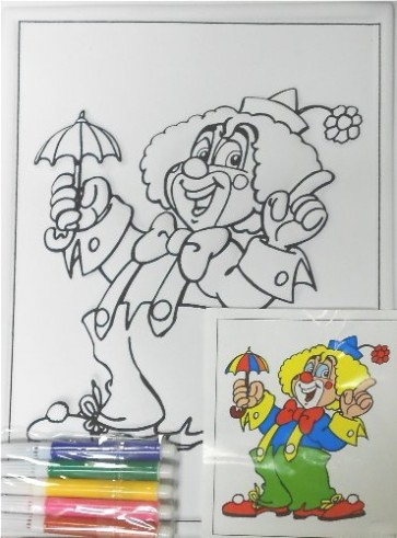 Relief Clown to Colour